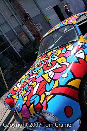 Tom Cramer's Art Car Karmann Ghia - photo by Tom Cramer