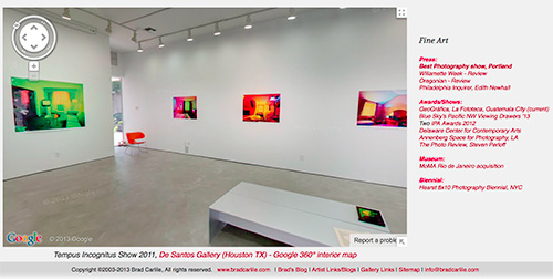 Brad Carlile Installation with Google 360 degree interior map snapshot