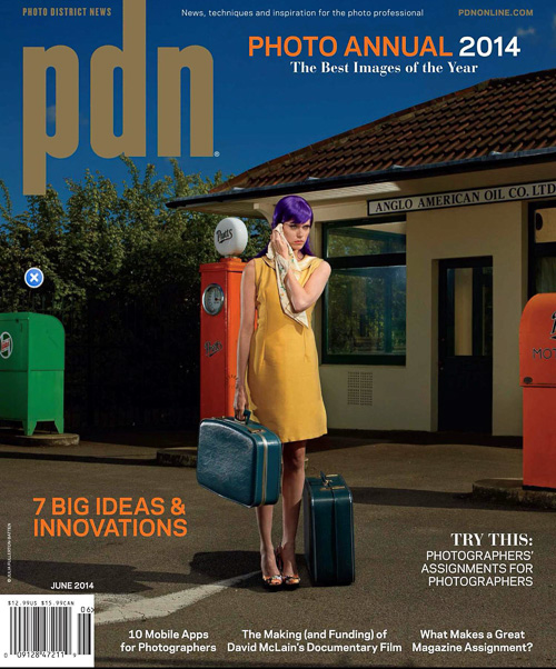 PDN photo annual 2014 award magazine cover