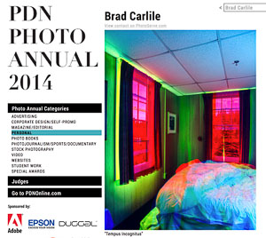 Brad Carlile PDN Photo Annual Winner website image